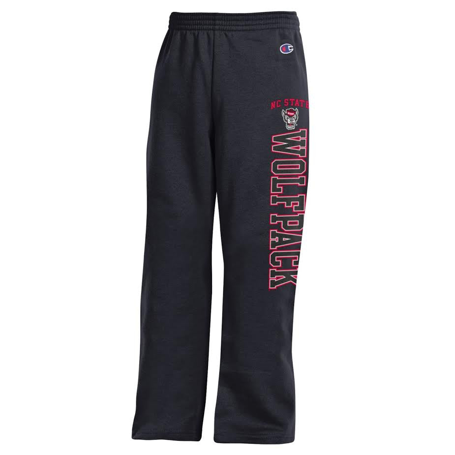 NC State Wolfpack Champion Youth Black Sweatpants