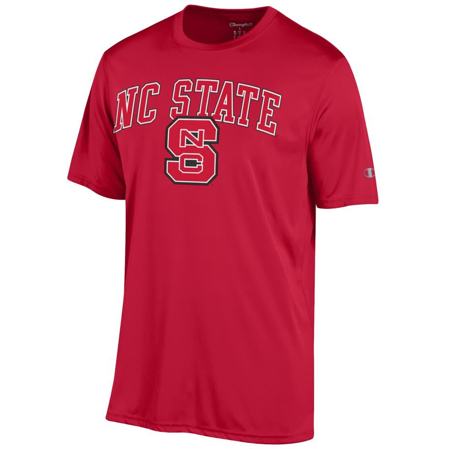 845662473 NC State Wolfpack Champion Red Block S Performance T-shirt – Red and ...