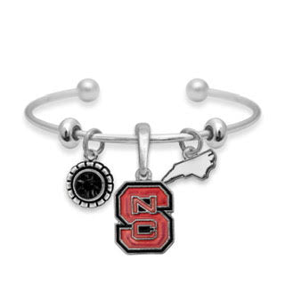 NC State Wolfpack Home Sweet School Cuff Bracelet