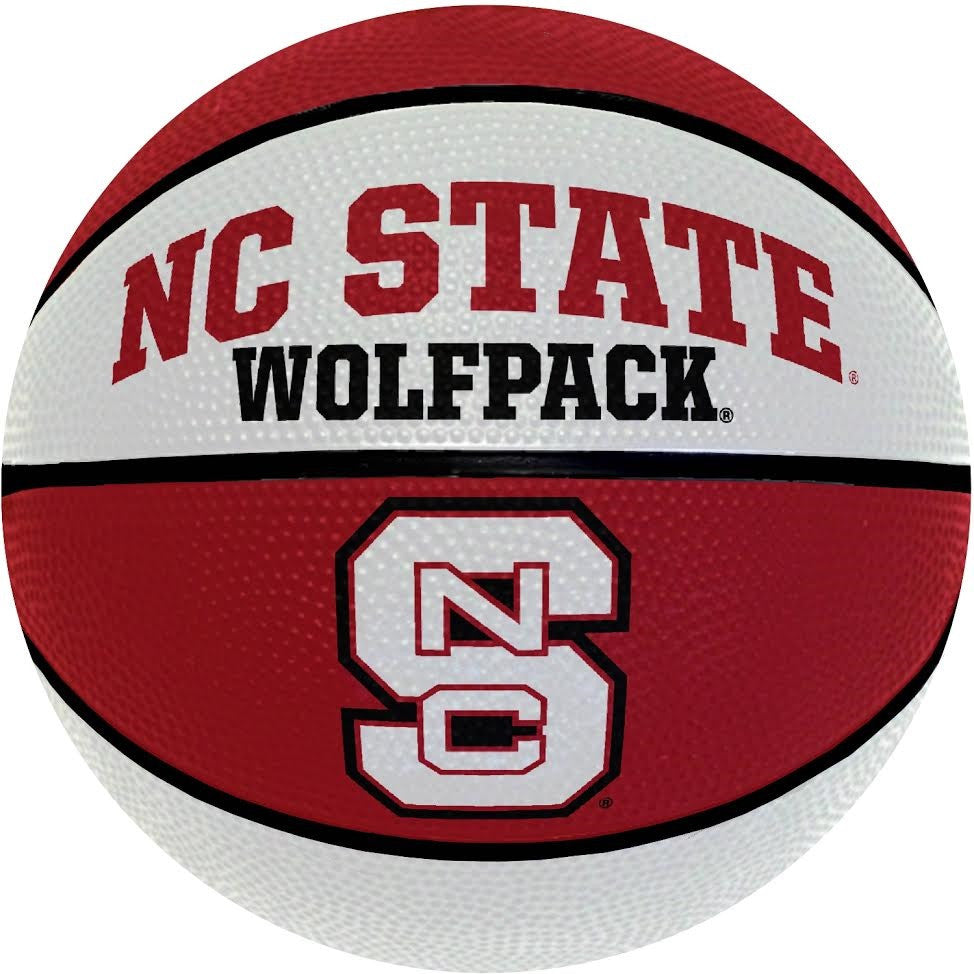 NC State Wolfpack Full Size Red and White Rubber Basketball
