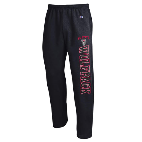 NC State Wolfpack Champion Black Wolfhead Sweatpants
