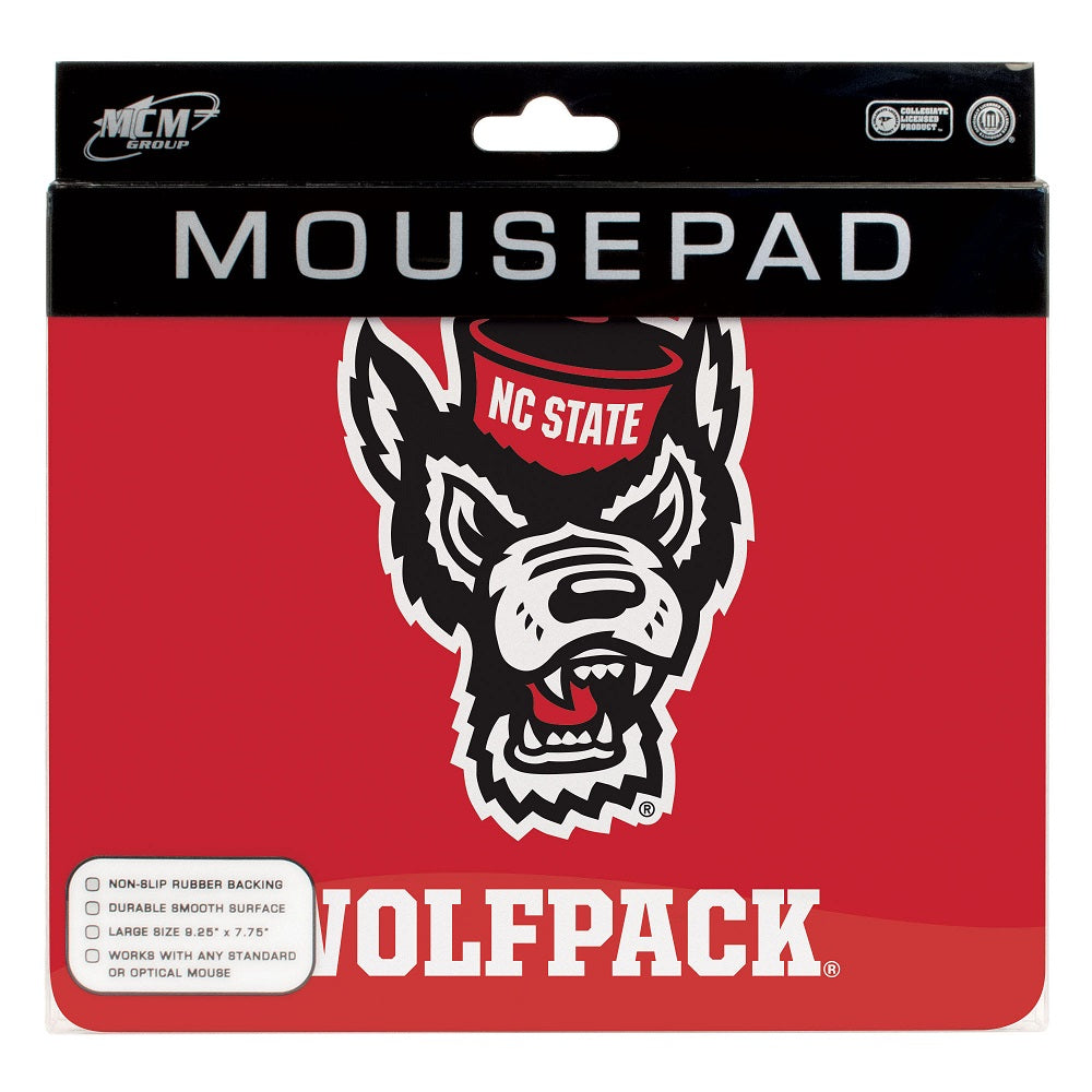 NC State Wolfpack Red Wolfhead Mouse Pad