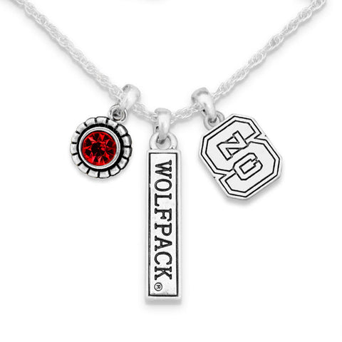 NC State Wolfpack Trifecta Necklace