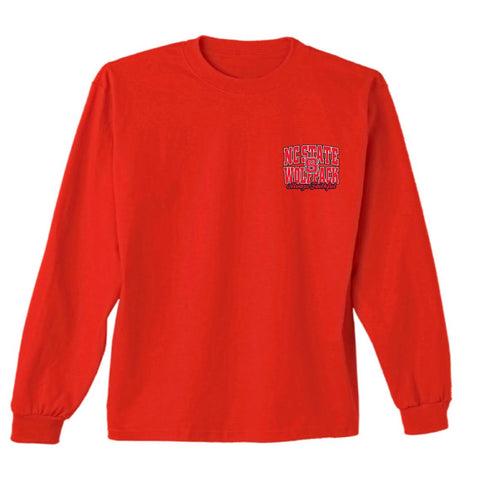 NC State Wolfpack Red Truck Dogs Long Sleeve T-Shirt