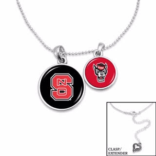NC State Wolfpack Duo Necklace
