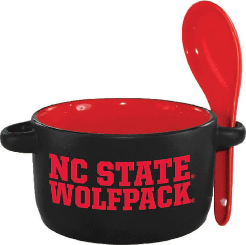 NC State Wolfpack Black/Red 12.5 oz. Hilo Soup Bowl