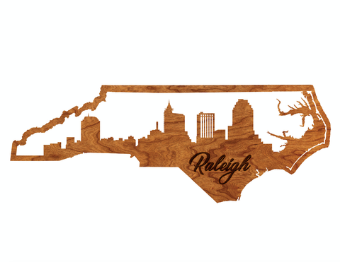 "Raleigh Skyline Cutout 30"" Wall Hanging"