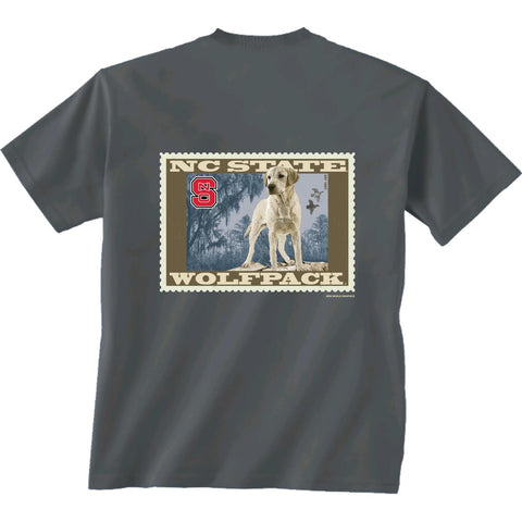 NC State Wolfpack Charcoal Lab Stamp T-Shirt