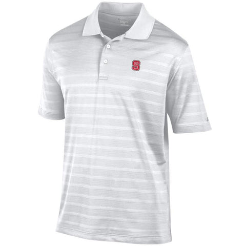 NC State Wolfpack Champion White Textured Polo