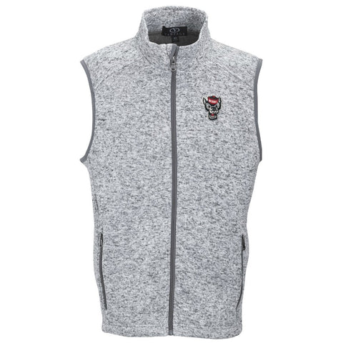 NC State Wolfpack Grey Summit Wolfhead Fleece Vest