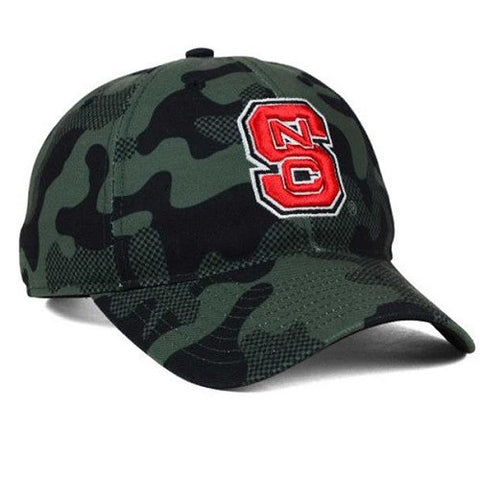 NC State Wolfpack Adidas Camo Veterans Day Slouch Adjustable Hat