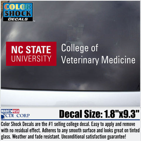 NC State Wolfpack College of Veterinary Medicine Decal