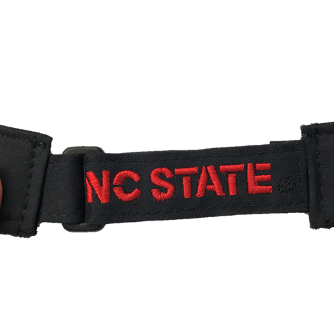 North Carolina State Wolfpack Adidas 2017 Black Sideline Coaches Adjustable Visor
