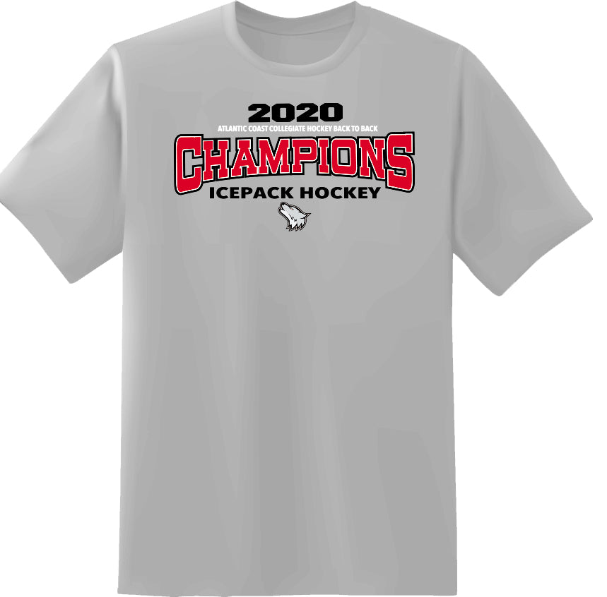 Ice Pack Sports Grey Back To Back Champions T-Shirt