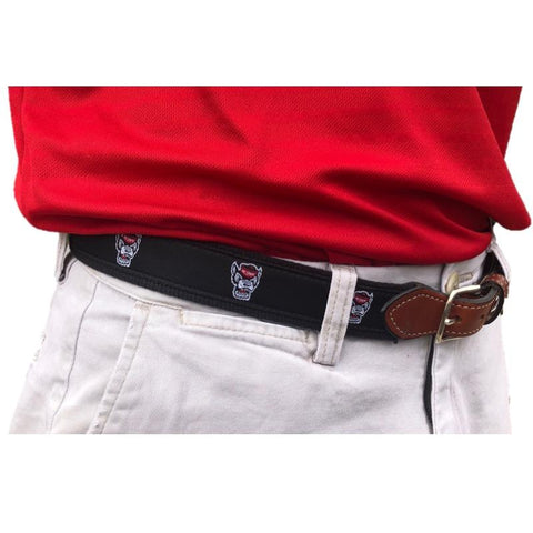NC State Wolfpack Youth Black Wolfhead Web Belt