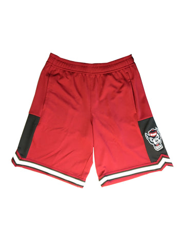 NC State Wolfpack Youth Red Wolfhead Stated Shorts