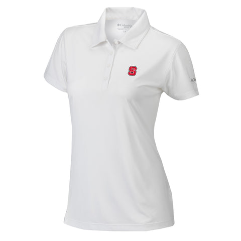 NC State Wolfpack Columbia Women's White Birdie Polo