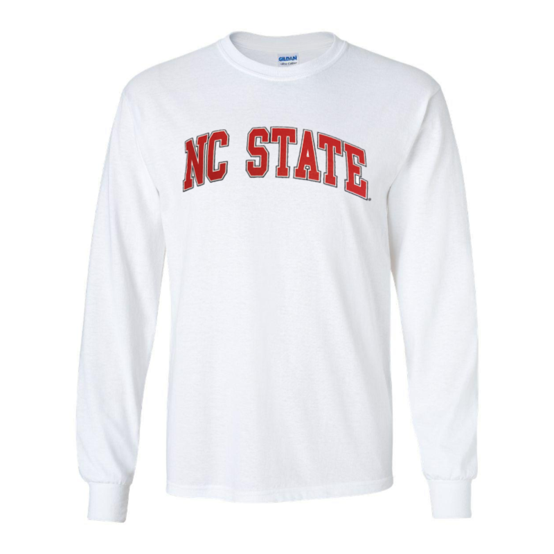 NC State Wolfpack White Arch Long Sleeve T-Shirt
