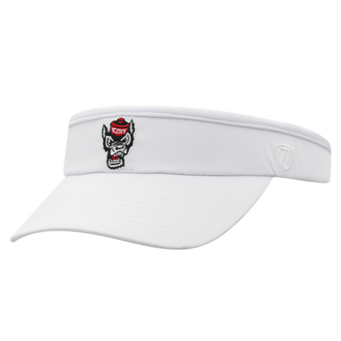 NC State Wolfpack TOW Women's White Trubeaut Clip Visor