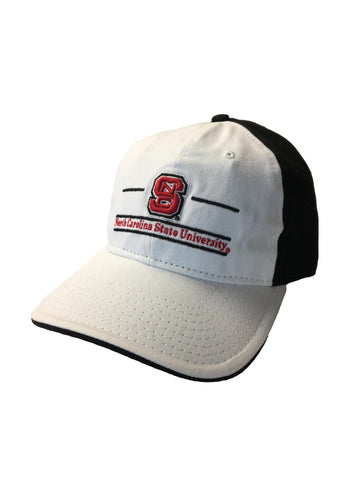 NC State Wolfpack The Game White and Black Split Bar Adjustable Hat