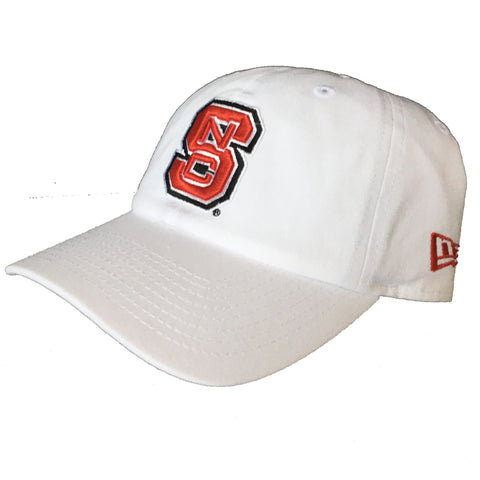 NC State Wolfpack New Era White Block S Adjustable Hat