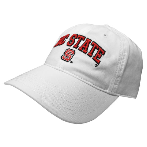 NC State Wolfpack White Block S Relaxed Twill Adjustable Hat