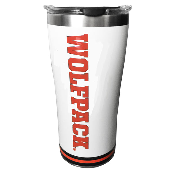 NC State Wolfpack Stainless Steel Arctic Wolfhead Tumbler w/ Hammer Lid