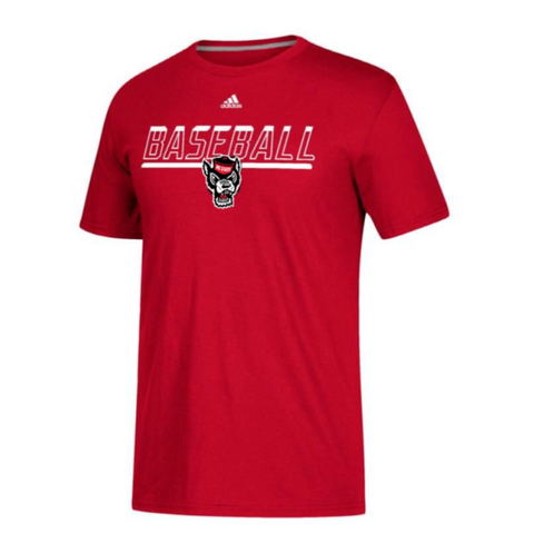 NC State Wolfpack Adidas Baseball Safe At Home T-Shirt