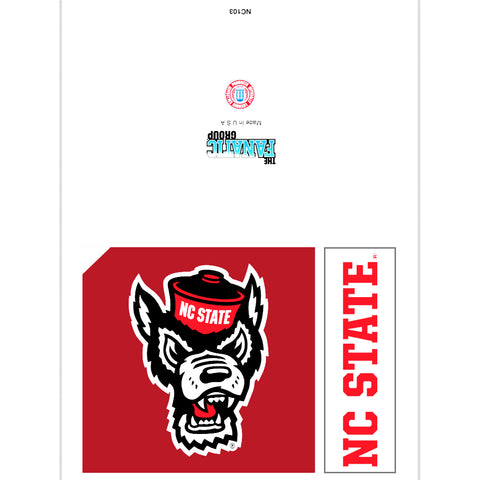 NC State Wolfpack Blank Wolfhead Card