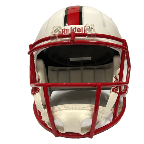 NC State Wolfpack Riddell White Wolfhead Replica Mini Speed Football Helmet