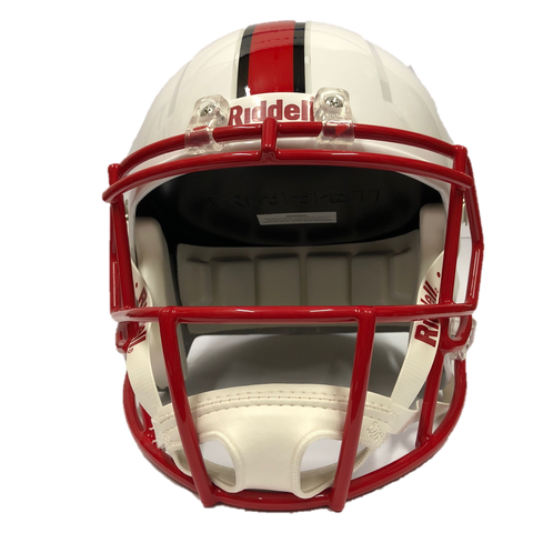 NC State Wolfpack Riddell White Wolfhead Replica Speed Football Helmet