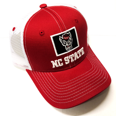 NC State Wolfpack Red Wolfhead Stamp Hat