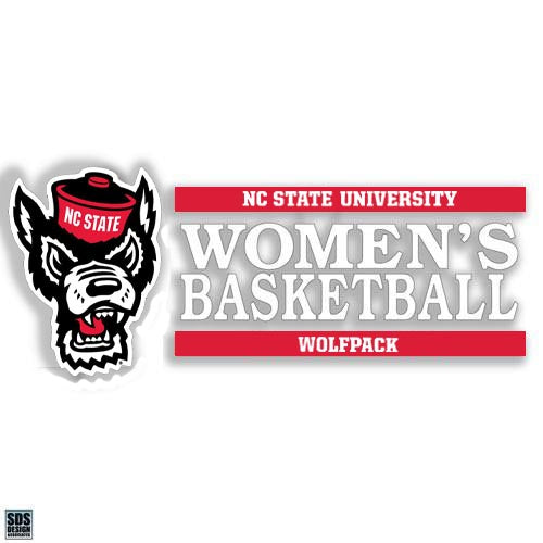 NC State Wolfpack Wolfhead Women's Basketball Vinyl Decal