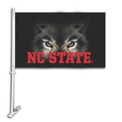 NC State Wolfpack 11x16 Wolf Eyes Car Flag