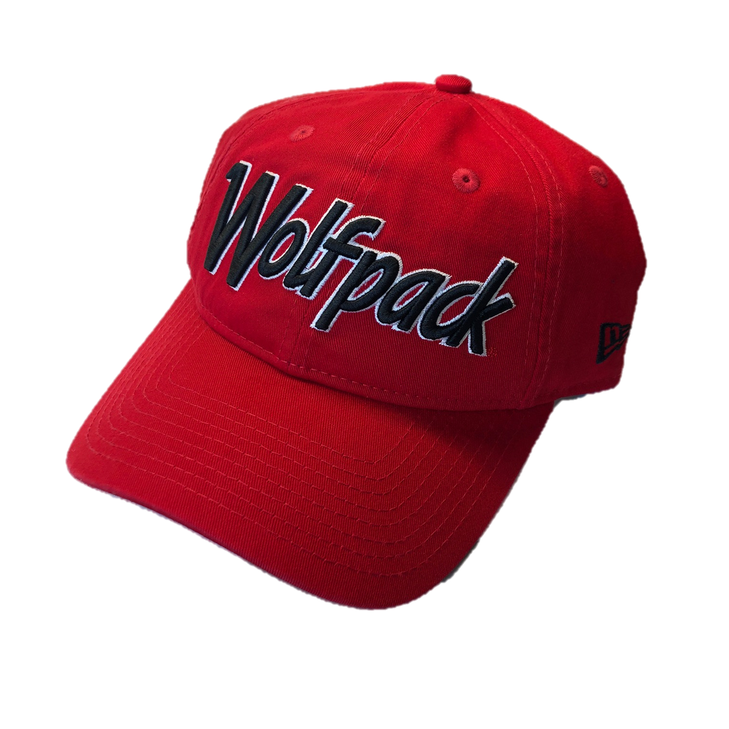 NC State Wolfpack New Era Red Retro Wolfpack Adjustable Hat