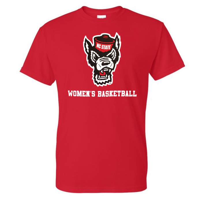 NC State Wolfpack Youth Red Wolfhead Women's Basketball T-Shirt