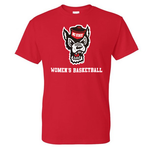 NC State Wolfpack Red Wolfhead Women's Basketball T-Shirt