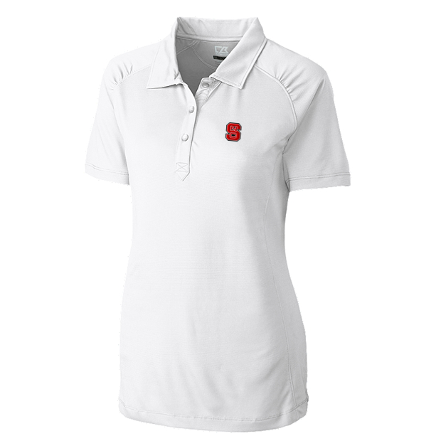 100% Polyester, Double knit square jacquard, Self-fabric collar, Three-button placket, Gathering at front raglan sleeve, Side vents, Open sleeves, Dyed to match logo buttons, C&B Pennant at back half moon, Moisture wicking, 50+ UPF sun protection