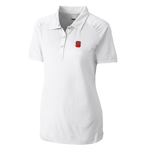 NC State Wolfpack Cutter & Buck Women's White Northgate Polo