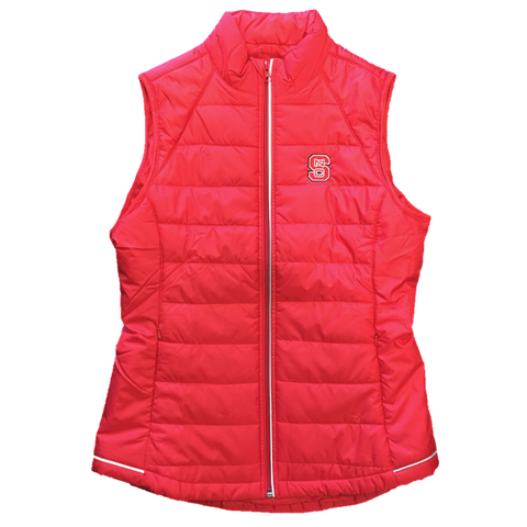 NC State Wolfpack Cutter & Buck Women's Red Post Alley Vest