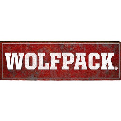 NC State Wolfpack Rustic Wolfpack Mill Wood Art