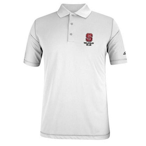 NC State Wolfpack Adidas White Wolfpack Club Puremotion Polo