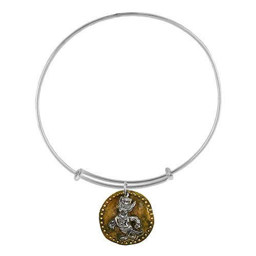 NC State Wolfpack Strutting Wolf Antique Coin Adjustable Bracelet