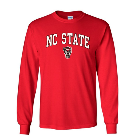 NC State Wolfpack Youth Red Signature Wolfhead Long Sleeve T-Shirt