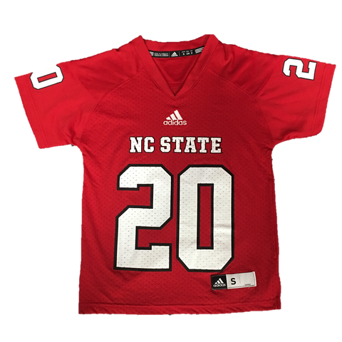 NC State Wolfpack Youth Red #20 Replica Football Jersey