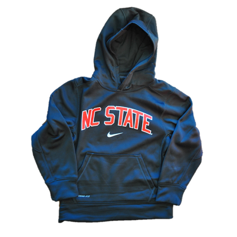 NC State Wolfpack Nike Boy's Anthrocite Thermal Fit Hoodie