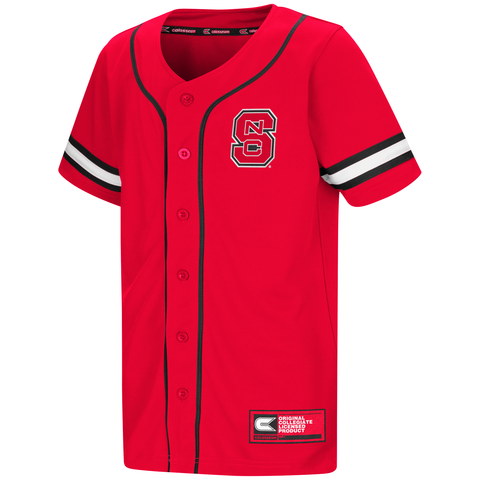 NC State Wolfpack Youth Red Play Ball Baseball Jersey