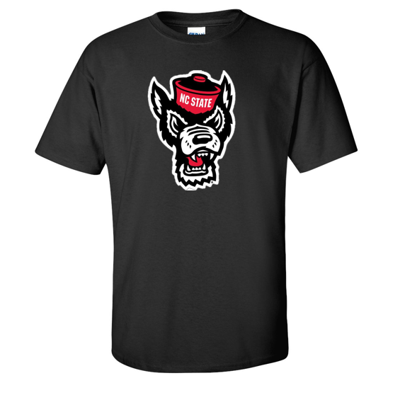 NC State Wolfpack Black Wolfhead T-Shirt