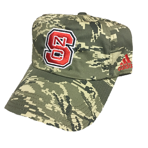 NC State Wolfpack Adidas Youth Camo Adjustable Slouch Hat