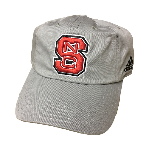 NC State Wolfpack Adidas Youth Grey Basic Adjustable Slouch Hat